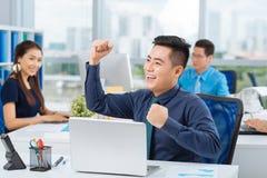 Успешный азиатский менеджер Стоковая Фотография