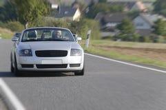 Успешный бизнесмен в автомобиле с откидным верхом Стоковая Фотография RF