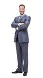 Успешный бизнесмен на белой предпосылке Стоковые Фото