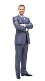 Успешный бизнесмен на белой предпосылке Стоковое фото RF