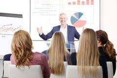Успешный бизнесмен на встрече Стоковое Изображение RF