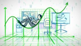 Успешный бизнесмен управляет финансами иллюстрация вектора