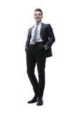 Успешный молодой человек в деловом костюме Стоковая Фотография RF