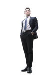 Успешный молодой человек в деловом костюме Стоковое Фото