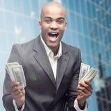 Успешный молодой африканский бизнесмен Стоковая Фотография