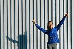 Успешный sporty показывать женщины стоковая фотография rf