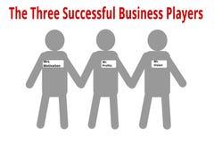 3 успешных игрока дела иллюстрация вектора