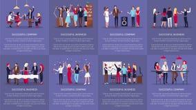 Успешн Компания, иллюстрация вектора дела иллюстрация вектора