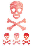 устанавливает череп Стоковые Изображения RF