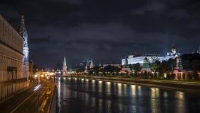 Устанавливать Timelapse снял обваловки реки Москвы Россия акции видеоматериалы