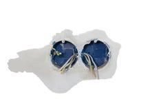 Устанавливать двойную электрическую коробку гнезда Присоединения к стене так Стоковое фото RF