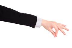 Устанавливающ или сжимающ знак руки стоковые фотографии rf