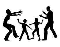 Устанавливая соперничество между детями бесплатная иллюстрация
