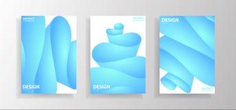 Установите абстрактных иллюстраций волны с градиентами Творческие плакаты o иллюстрация штока