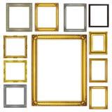Установите античную рамку изолированный на белой предпосылке Стоковые Изображения RF