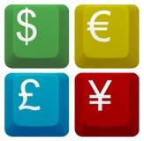 Установите банк ключевой валюты клавиши на клавиатуре компьютера Стоковые Изображения