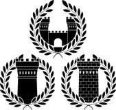 установите башни иллюстрация вектора