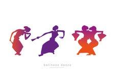 Установите балийских девушек танцев Стоковое фото RF
