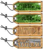 Установите бирки Eco - принципиальную схему экологичности Стоковое фото RF