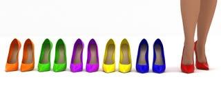 Установите ботинок Стоковое Изображение RF