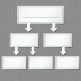 Установите бумагу данным по вектора графическую серой предпосылки Стоковое Изображение