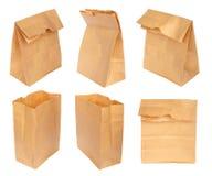 Установите бумажную сумку изолированный Стоковое фото RF