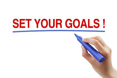Установите ваши цели Стоковое фото RF