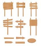 установите вектор знака деревянной Стоковое фото RF