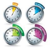 установите вектор отметчиков времени Стоковая Фотография RF