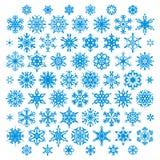 установите вектор снежинок Стоковая Фотография