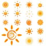 установите вектор солнца бесплатная иллюстрация