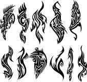установите вектор tattoo соплеменный Стоковое фото RF