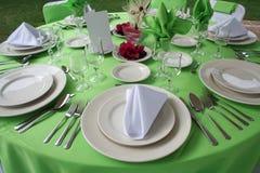 установите венчание таблицы Стоковые Изображения RF