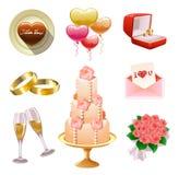 установите венчание Стоковое Изображение RF