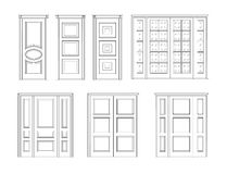 Установите дверь внутренний Стоковое фото RF