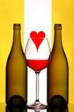 установите вино Валентайн Стоковые Фото