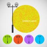 Установите винтажные уличные светы на покрашенных предпосылках Стоковая Фотография RF