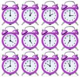 Установите винтажный сигнал тревоги одно часов на каждый час Стоковая Фотография