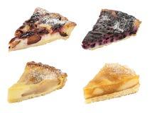 Установите вкусных пирогов изолированных на белизне стоковая фотография