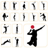 установите волейбол Стоковое Изображение