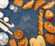 Установите выпечку и ингридиенты Стоковые Фото