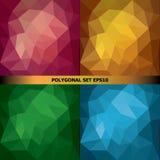 Установите в полигональный стиль Стоковая Фотография RF