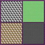 Установите графическую предпосылку, геометрический конспект, иллюзию куба Стоковые Изображения RF