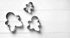 Установите для делать печенья человека пряника Стоковые Фото