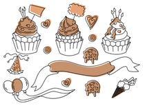 Установите для дизайна вечеринки по случаю дня рождения в векторе иллюстрация вектора