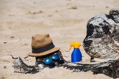Установите для пляжа стоковые изображения rf