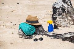 Установите для пляжа стоковое изображение rf