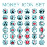 Установите деньги заработка сбережений успеха в бизнесе значков Бесплатная Иллюстрация