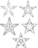 установите звезды Стоковые Изображения RF