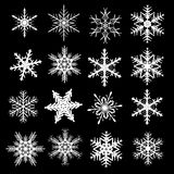 установите зиму снежинки Стоковое фото RF